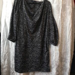 GAP satin feel animal print dress-ladies 10